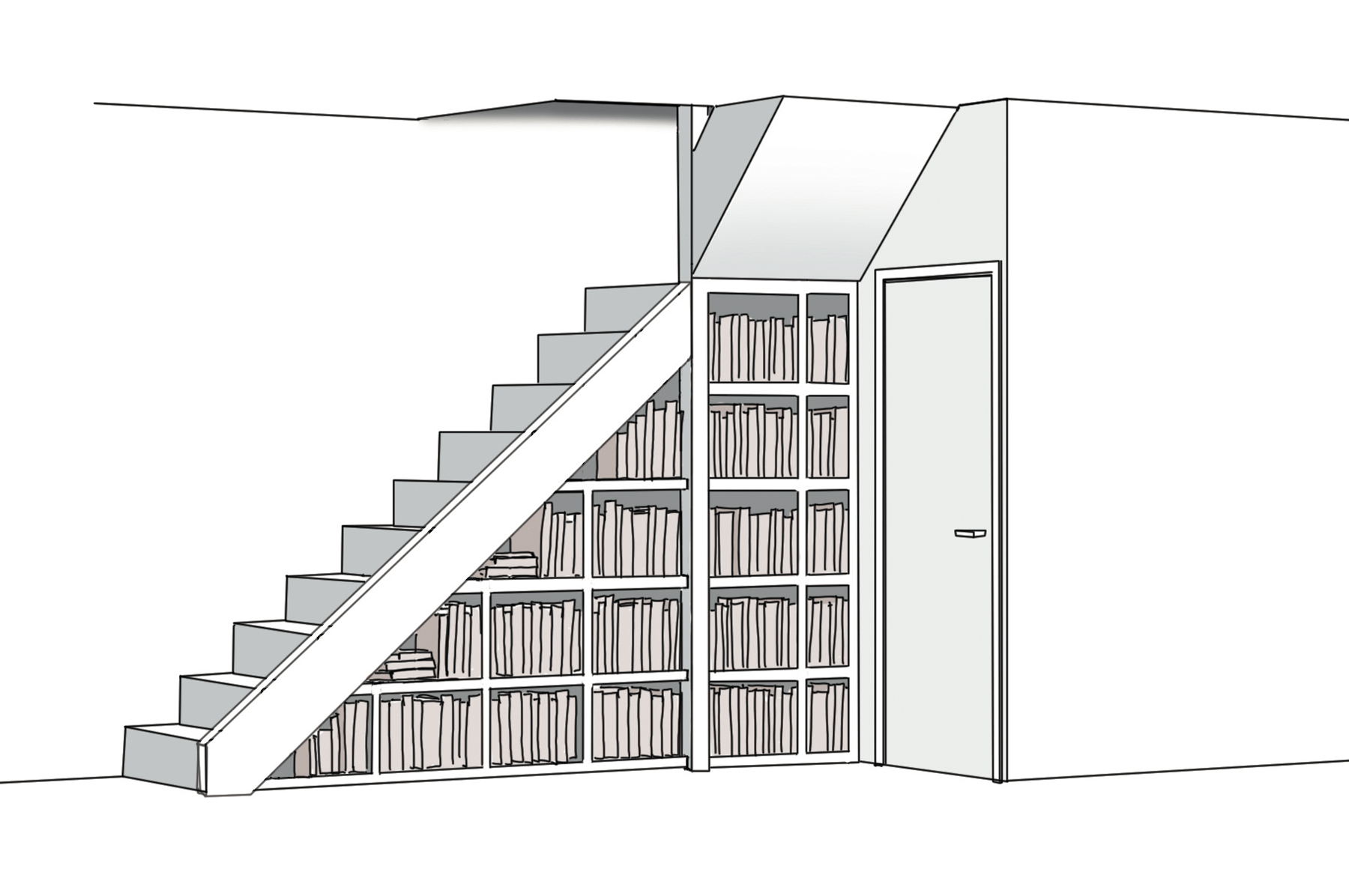 croquis bibliothèque