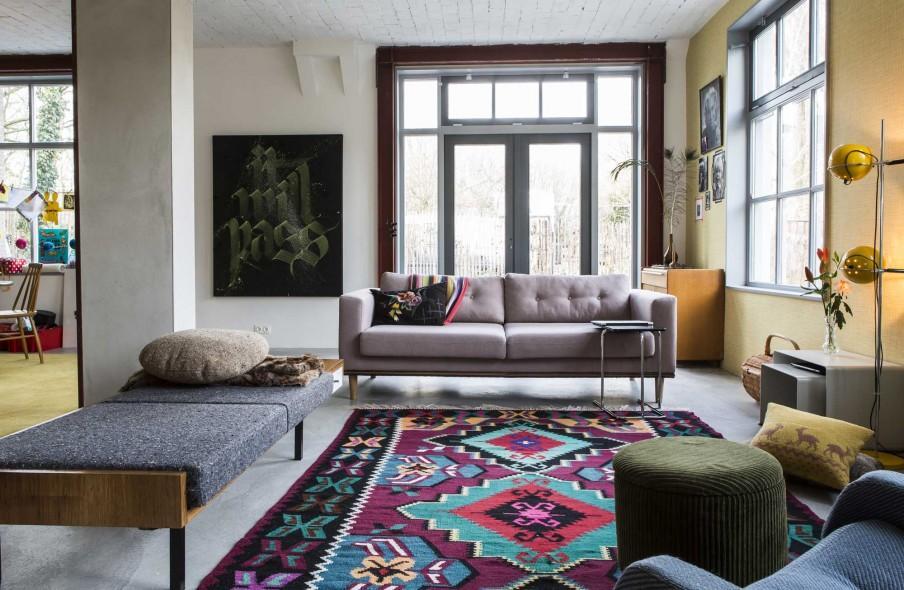 sejour tapis couleurs