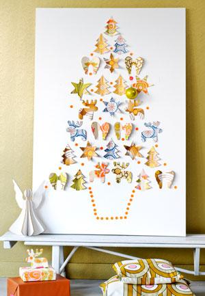 kerstkunst op een kerstschilderij