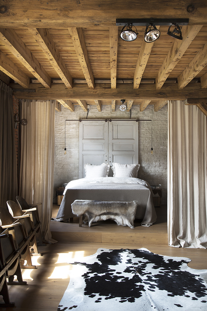 antieke bouwmaterialen slaapkamer dauby