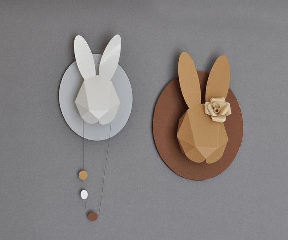 muurdecoratie konijn