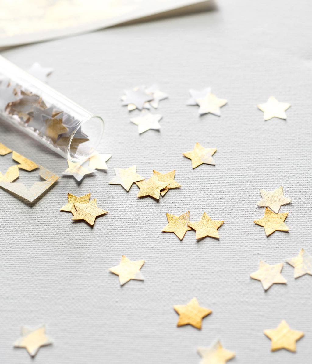 Gouden sterretjes | makkelijke kerstdecoraties | DIY | vtwonen 12-2020