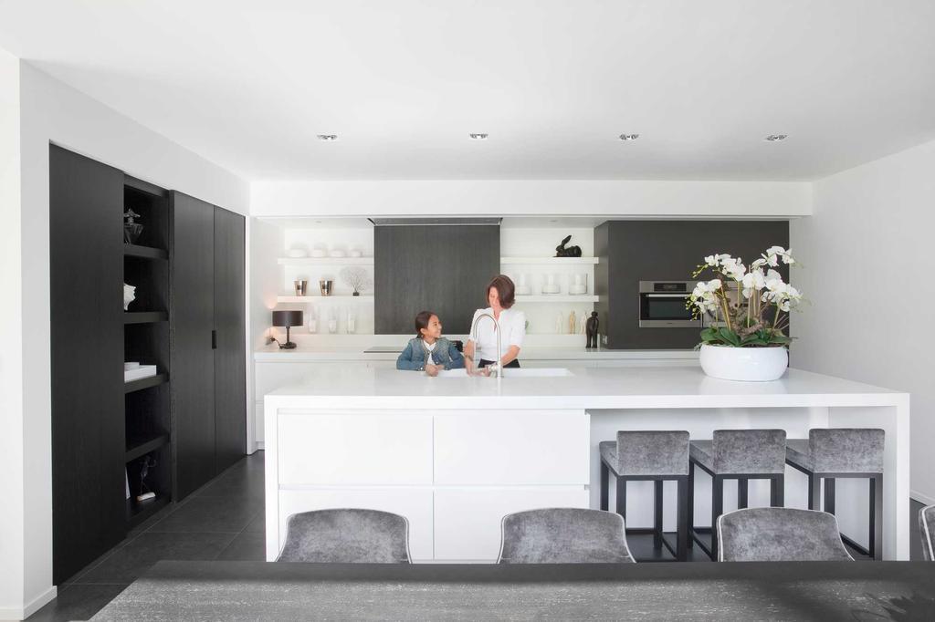 keuken wit zwart