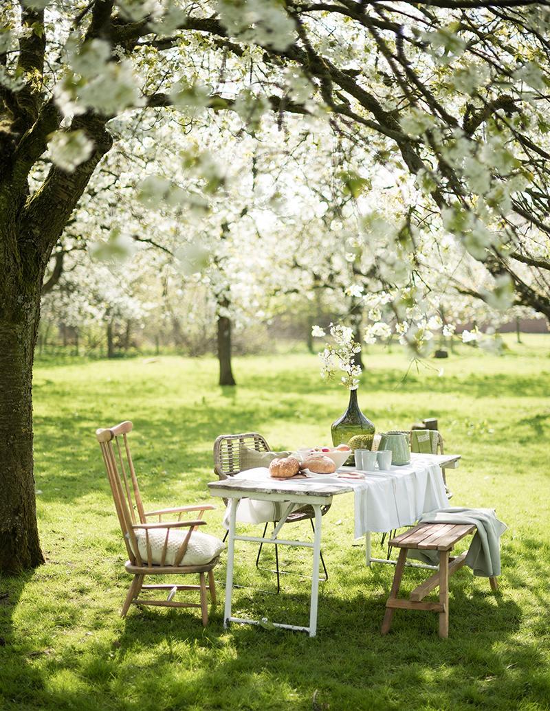 bloesem gedekte tafel