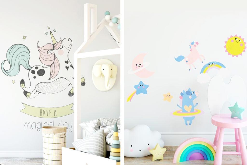Muurstickers met eenhoorns en regenbogen van Nathalie van Studio Loco