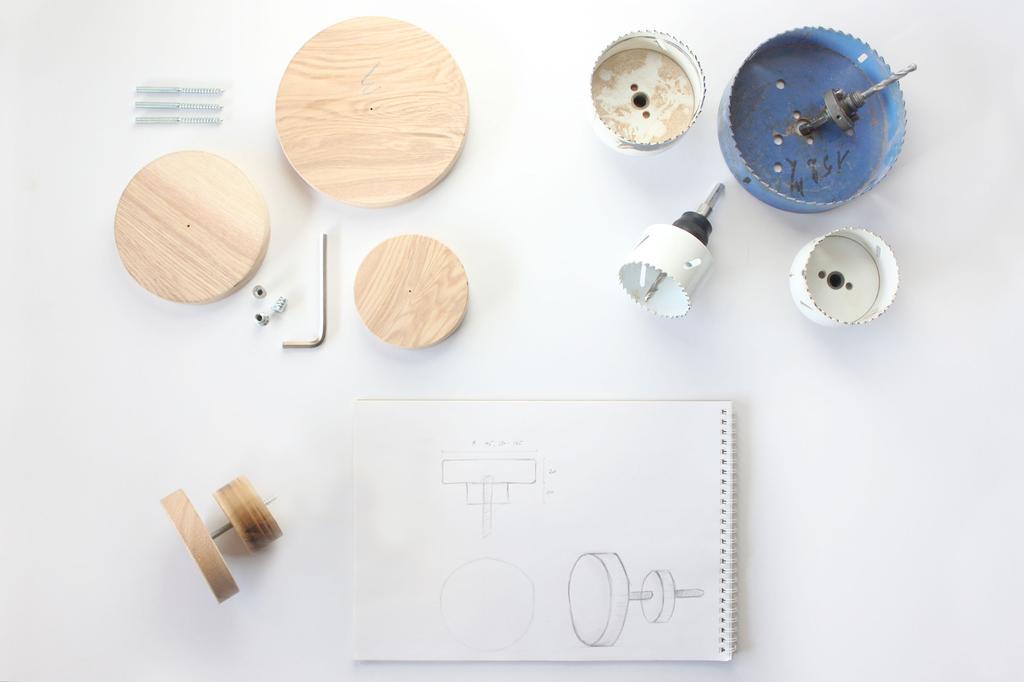 DIY - kapstok dots