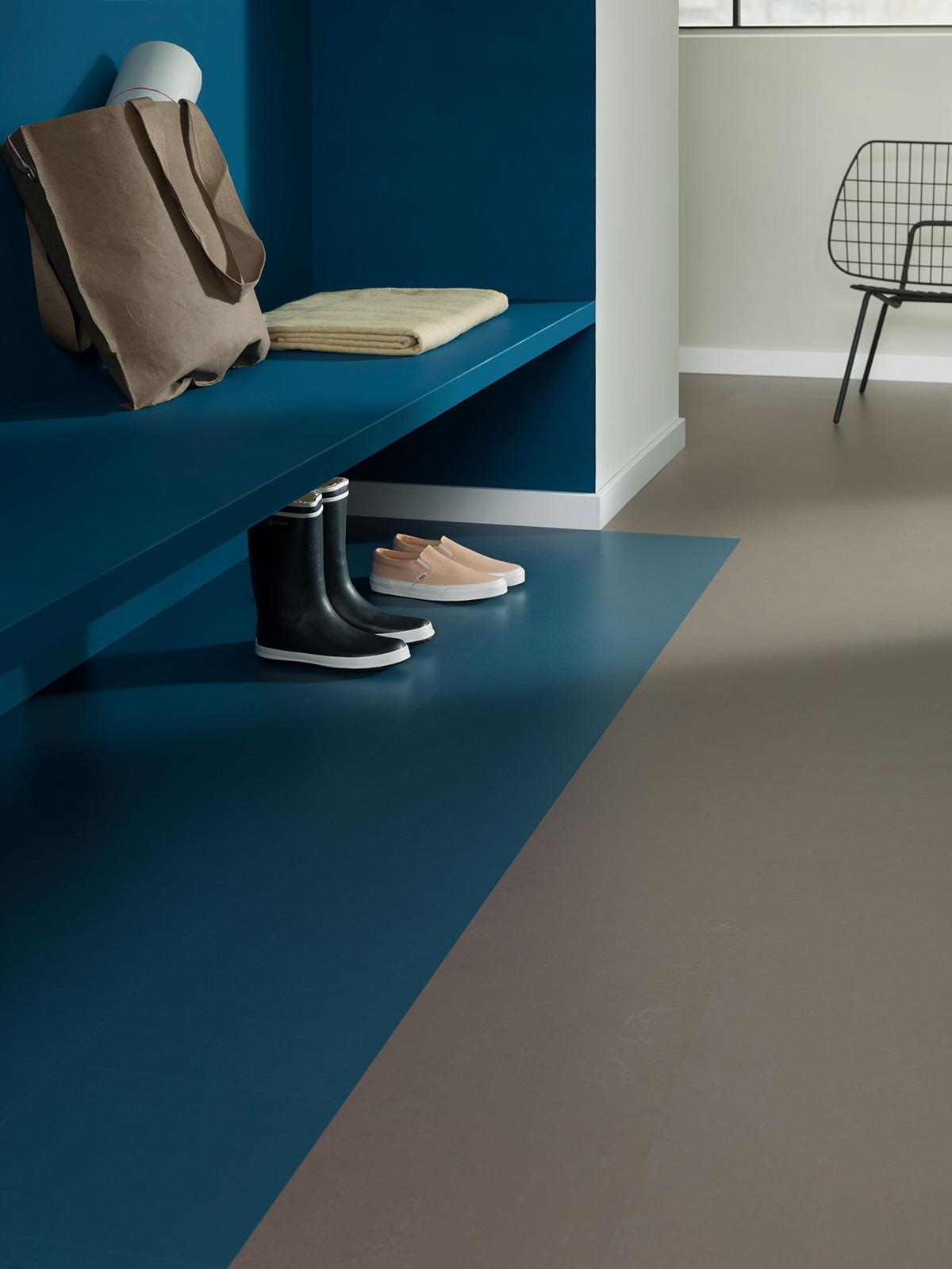 Marmoleum vloer kleurvlakken
