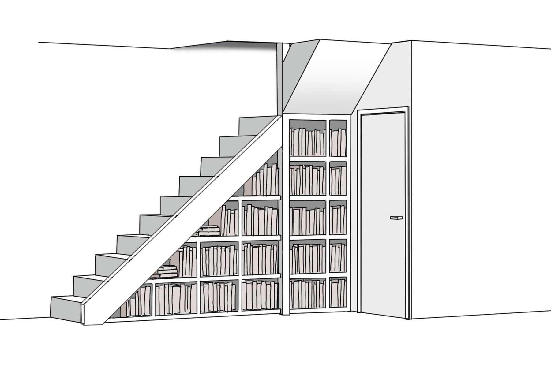 boekenkast-tekening-findio