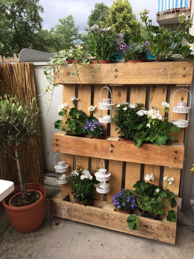pallet voor bloemen en planten