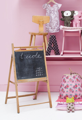Schoolbord kinderkamer