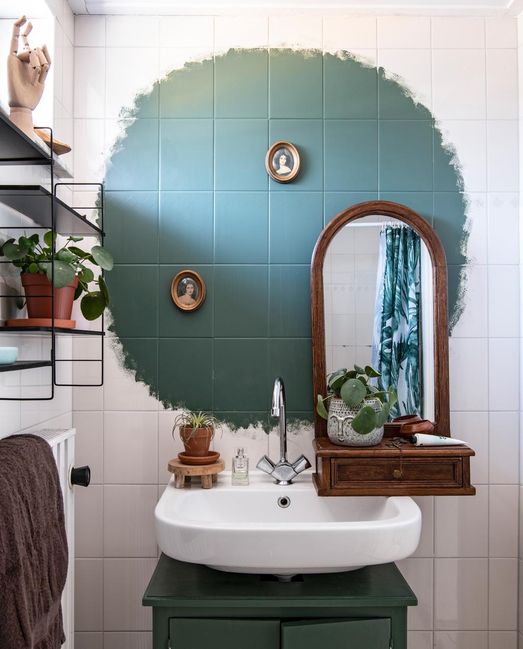 vtwonen 03-2020 | badkamer groene tinten