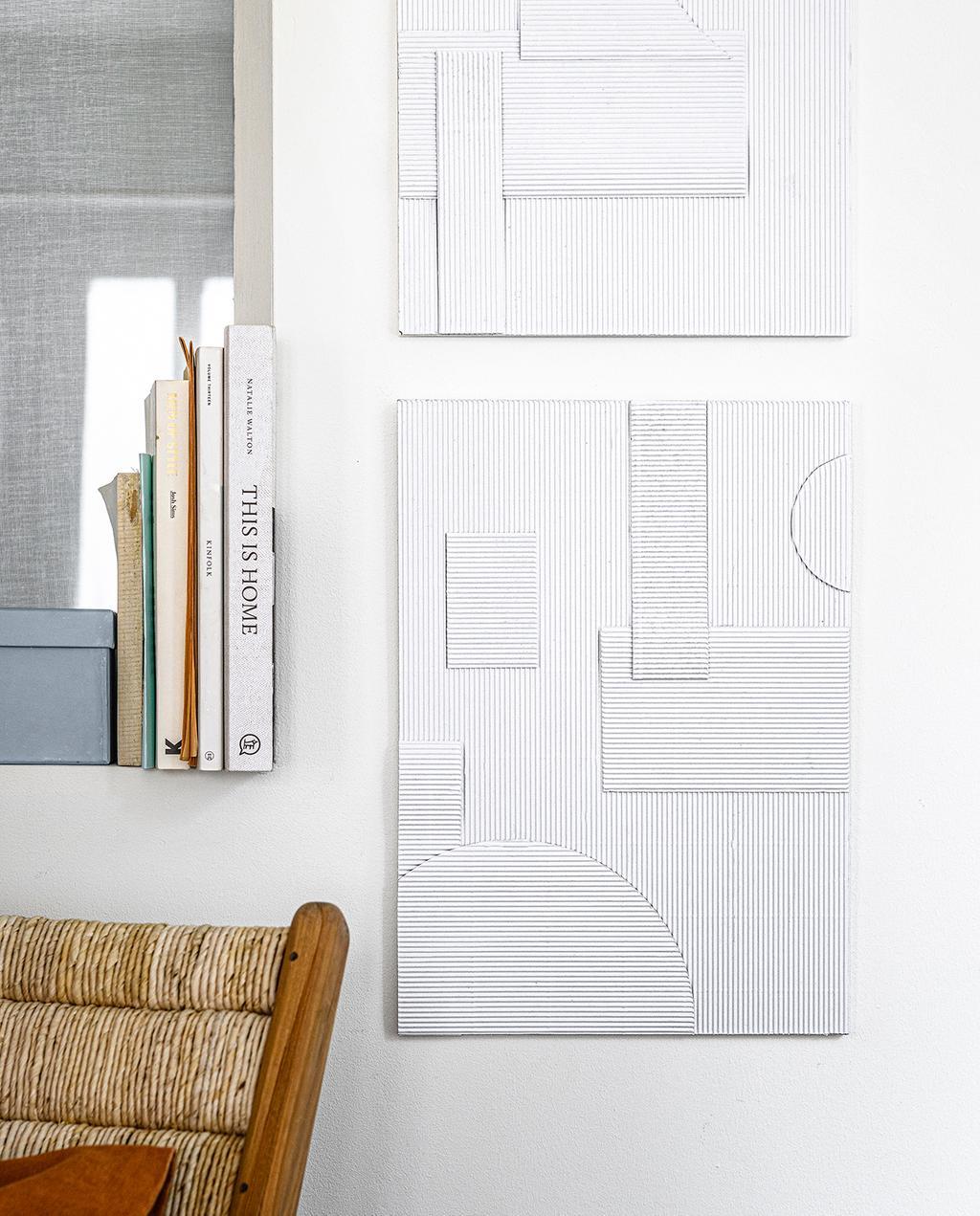vtwonen 2020 DIY special 02 | kunstwerk van papier wit wanddecoratie