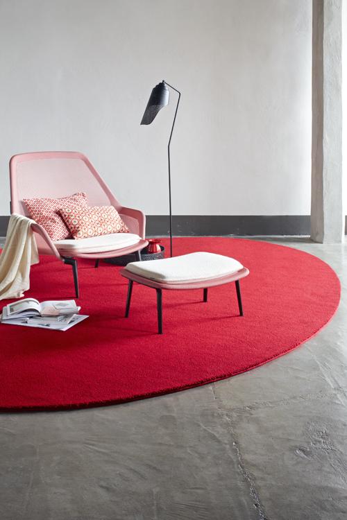 karpet ovaal rood