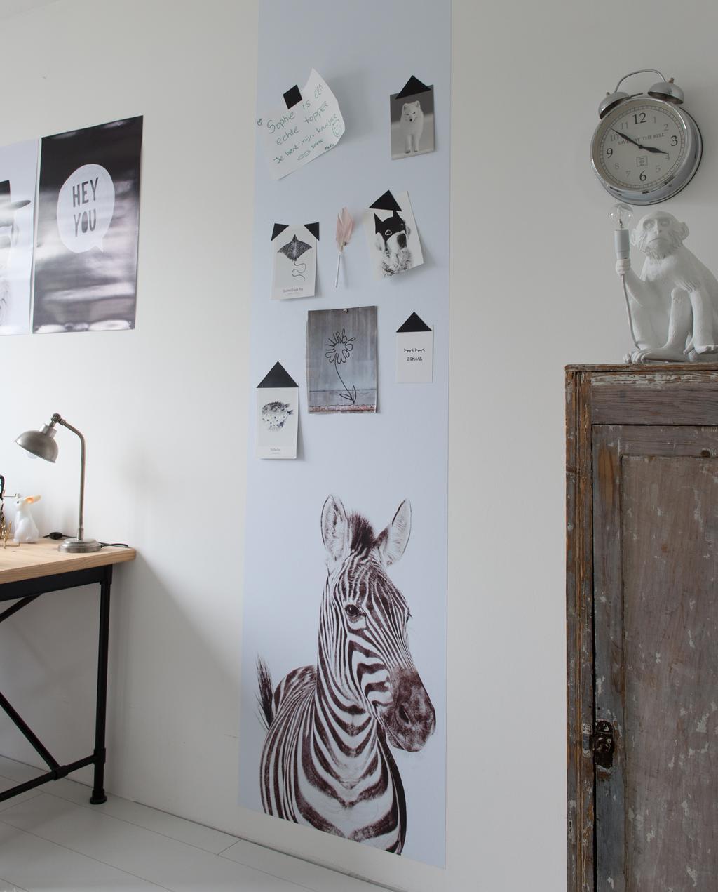 vtwonen 12-2019 binnenkijken special | vrijstaand nieuwbouwhuis in Almere kinderslaapkamer wand