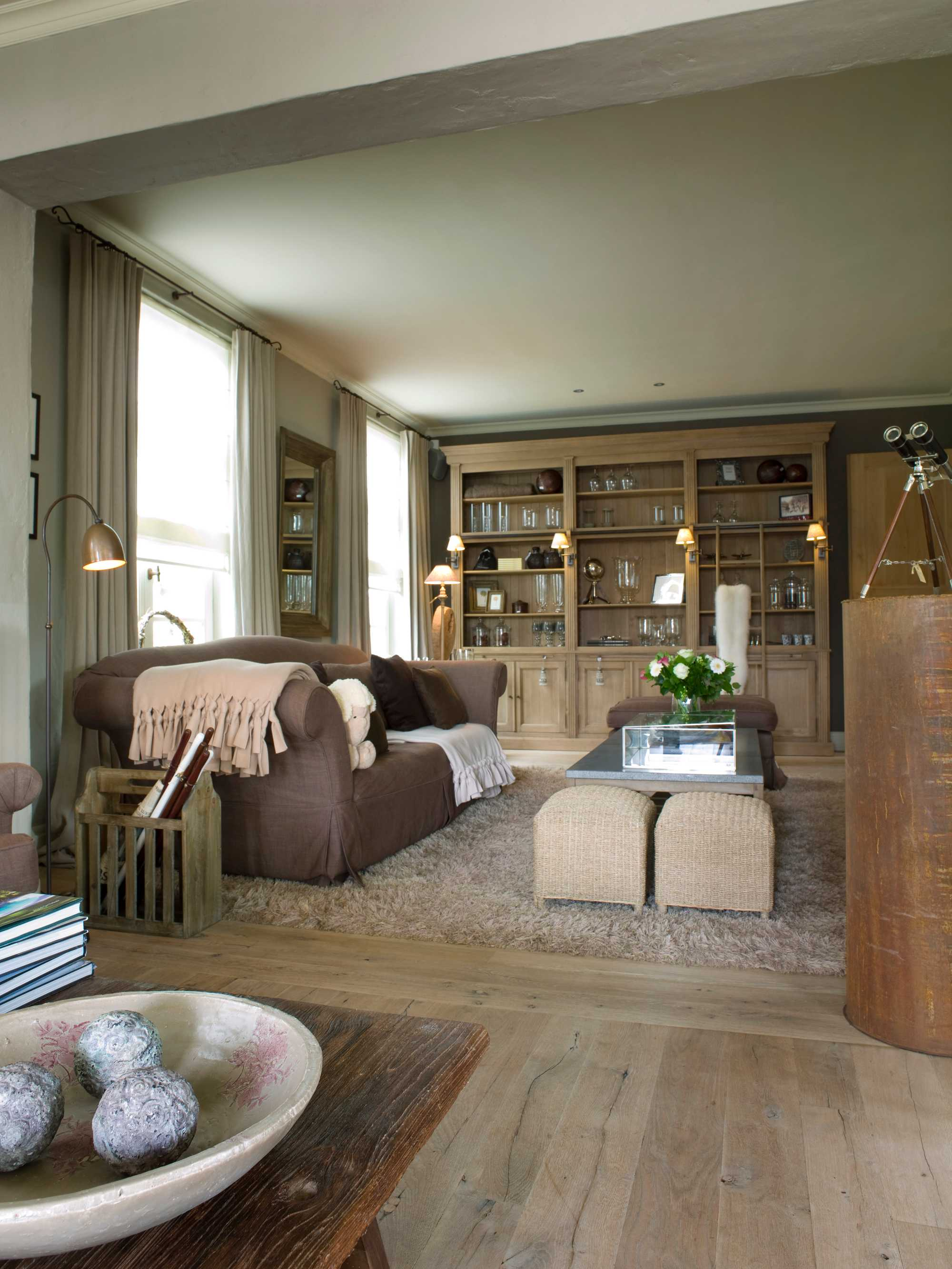 woonkamers hout