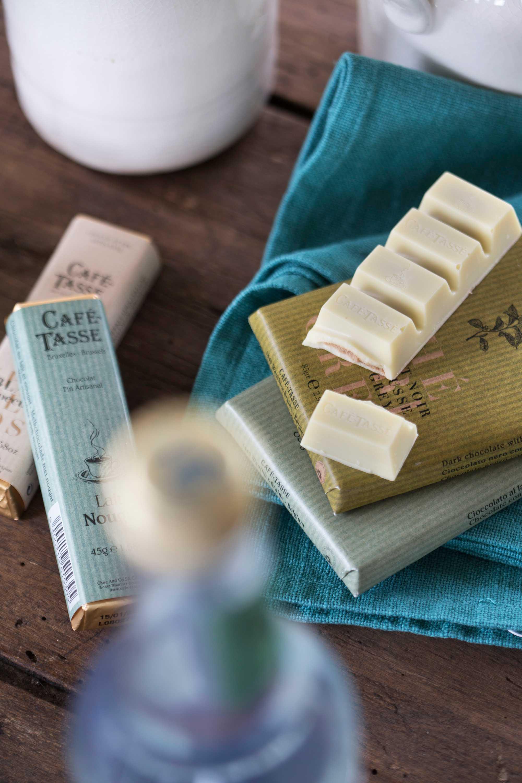 chocolat serviette turquoise