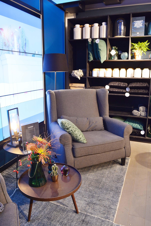 boutique hotel grijze fauteuil