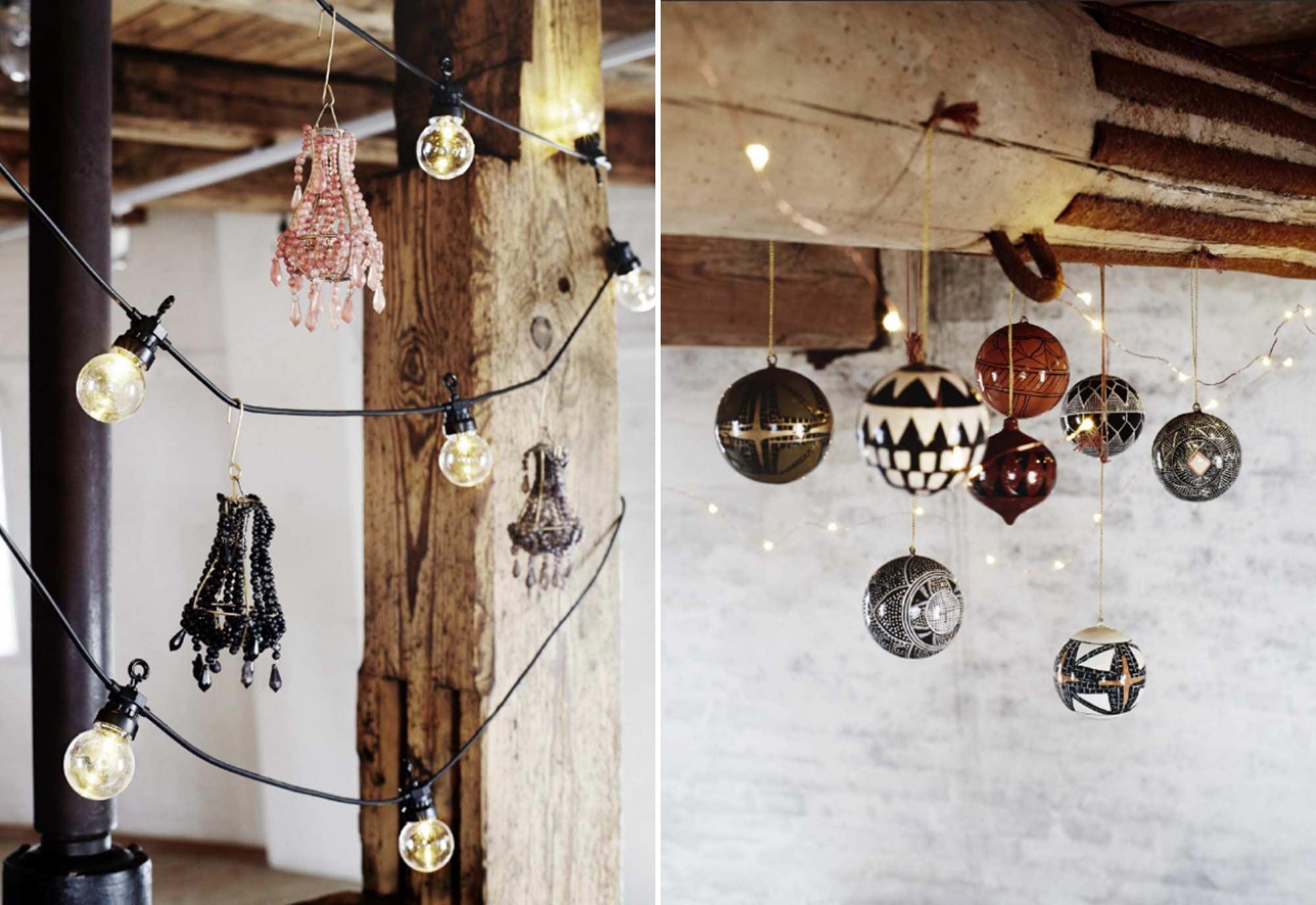 Hangende kerstballen - Lampjes - Hangers