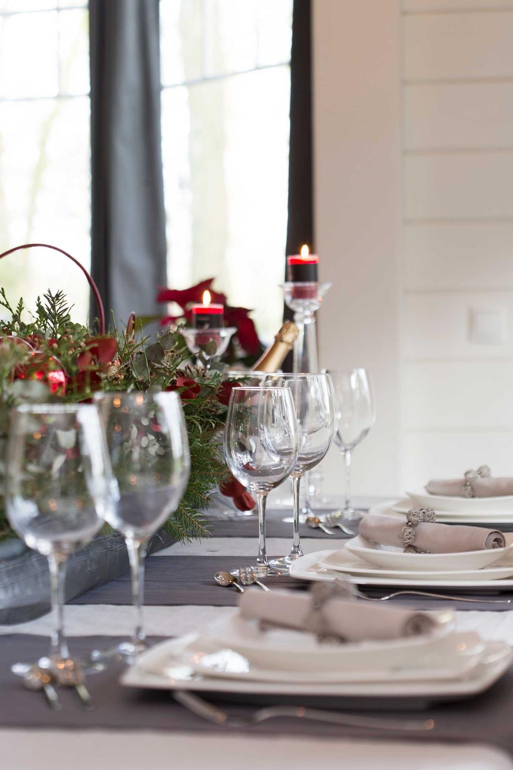 tafel servies kerst