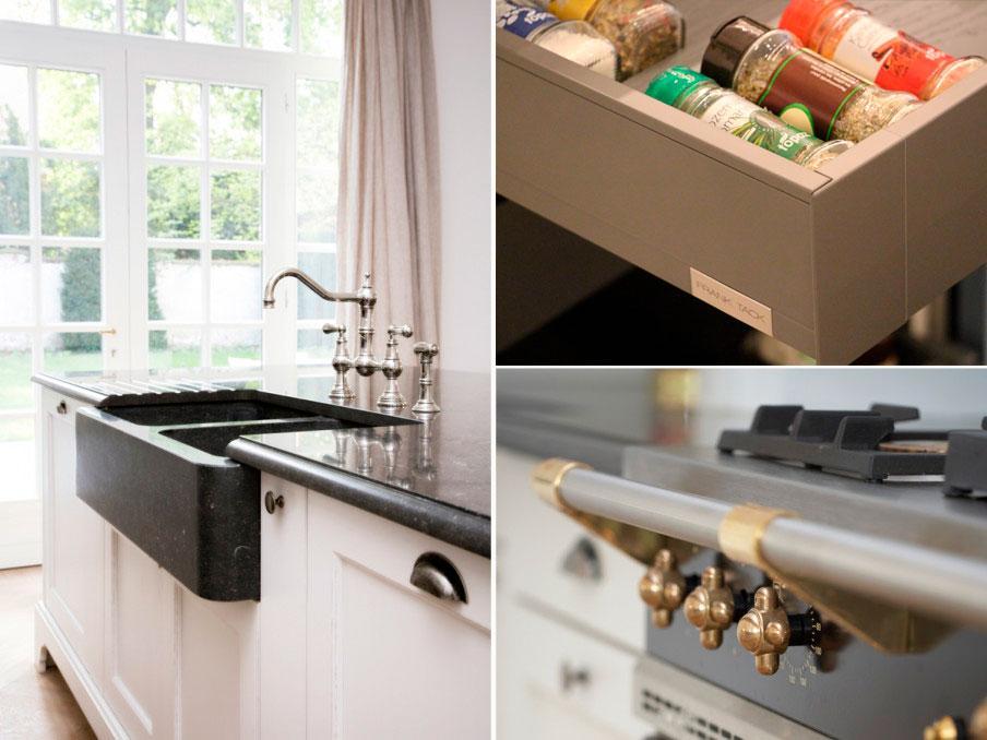 Collage van details van een keuken van Frank Tack