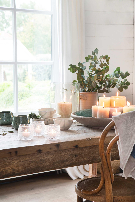 wonen landelijke stijl by j-line theelichtjes kaarsen kommen