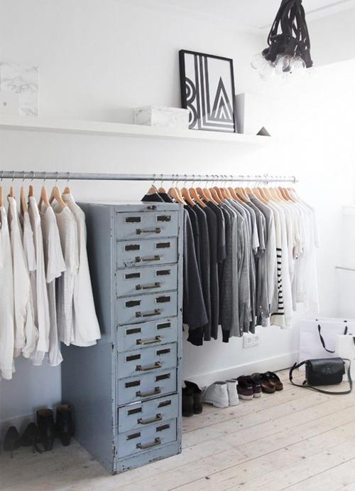 zelf kledingrek maken