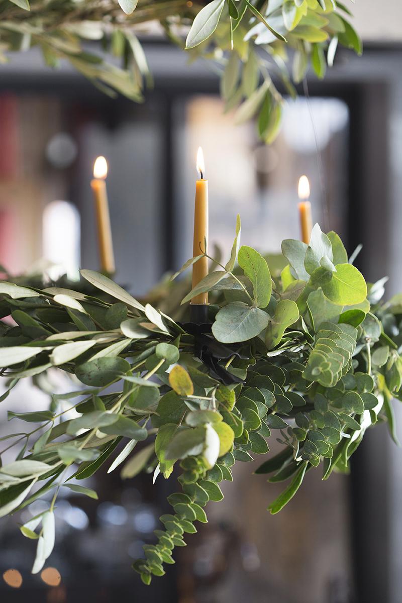 kerst diy eucalyptusluchter detail