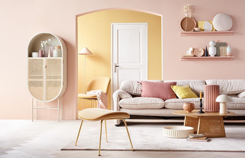 styling vtwonen editie 6 pastelkleuren woonkamer