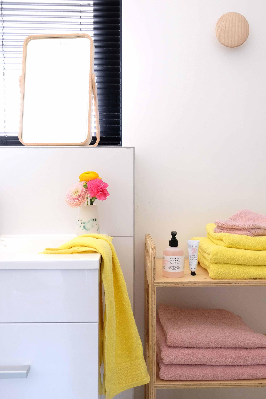 trolley hout badkamer