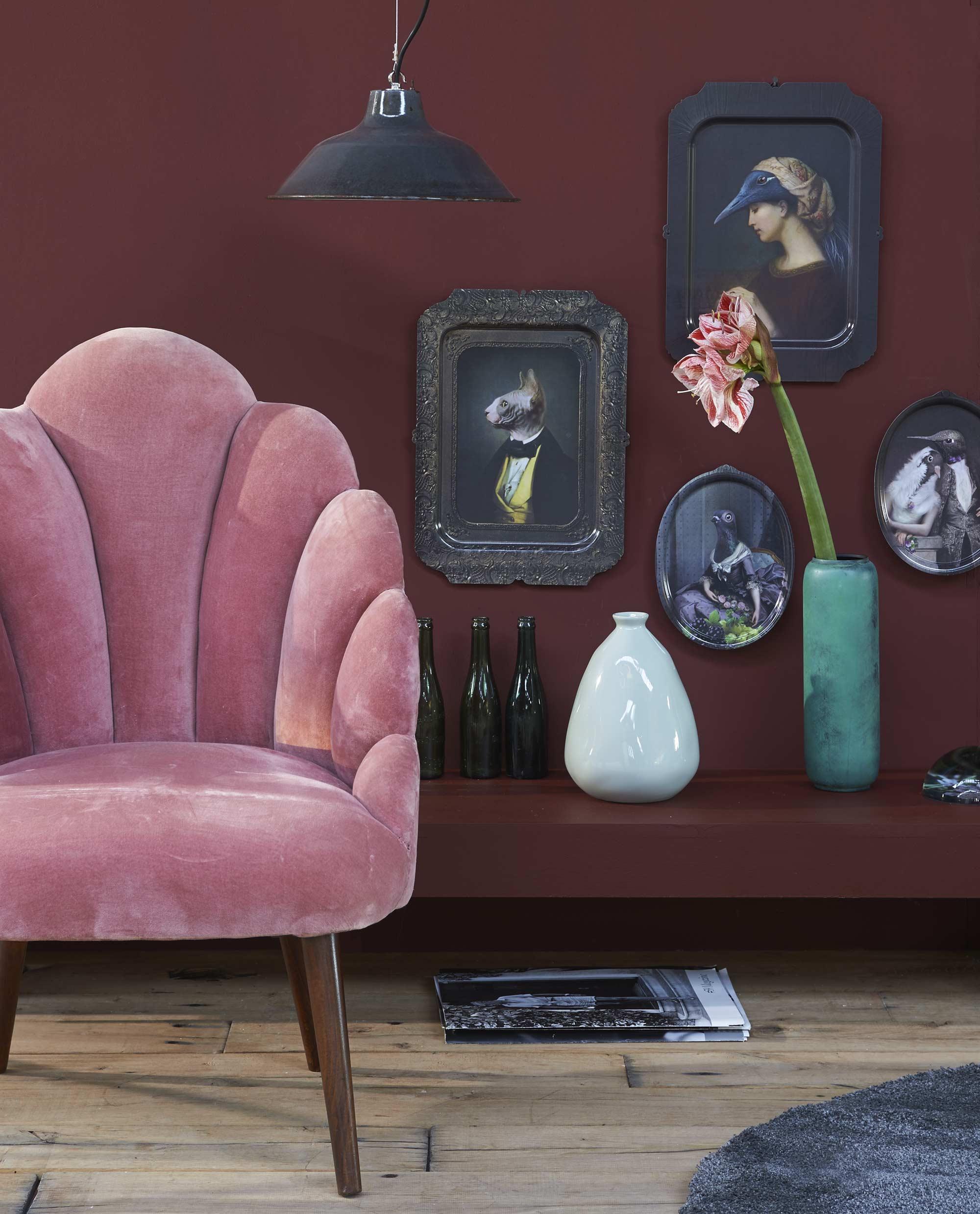 boudoir roze fauteuil
