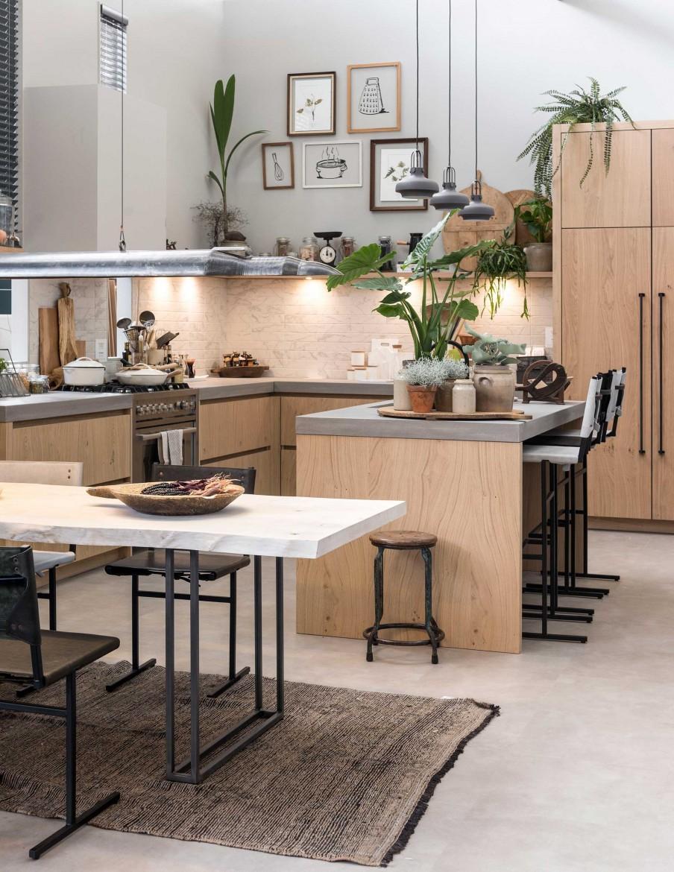 Houten keuken in het vtwonen huis 2017