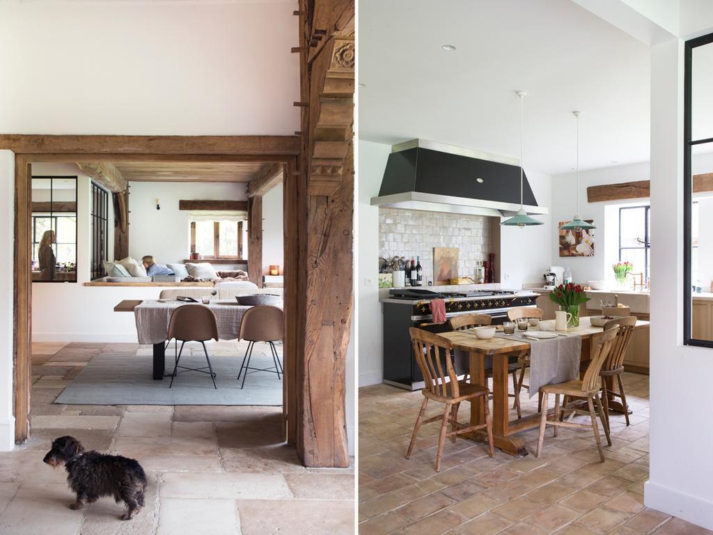 bk 7 elena eetruimte keuken met houten eettafel en zwart
