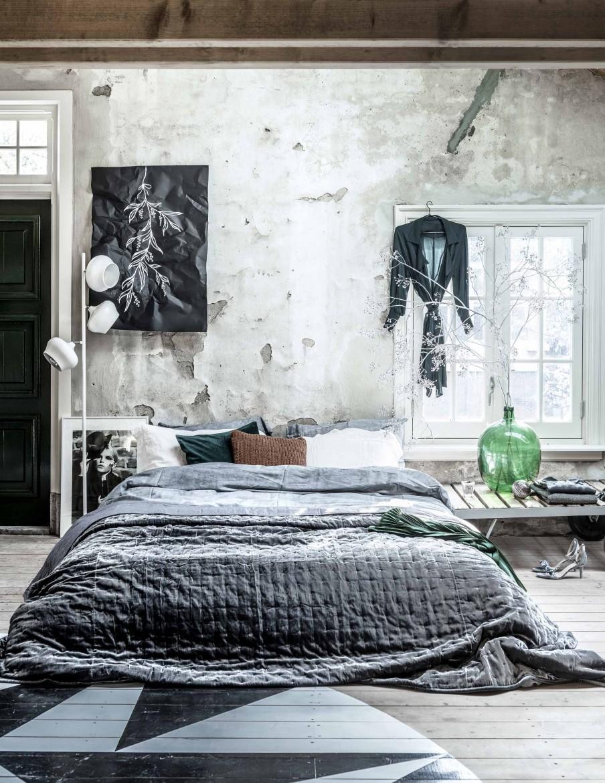 chambre déco gui gris et blanc