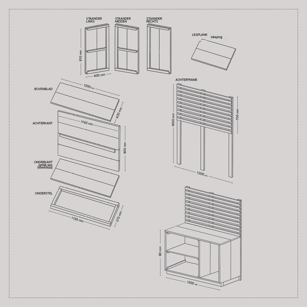 Werktekening | Keukenblok