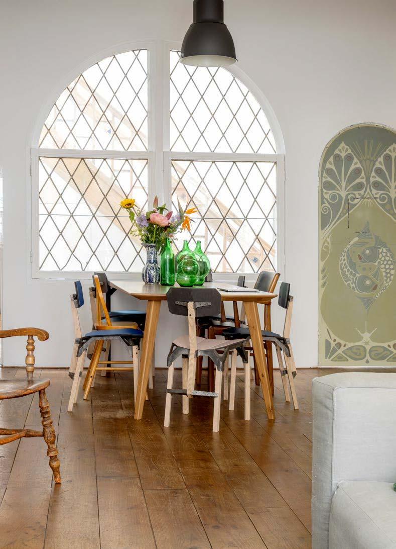 Glas in lood in huis