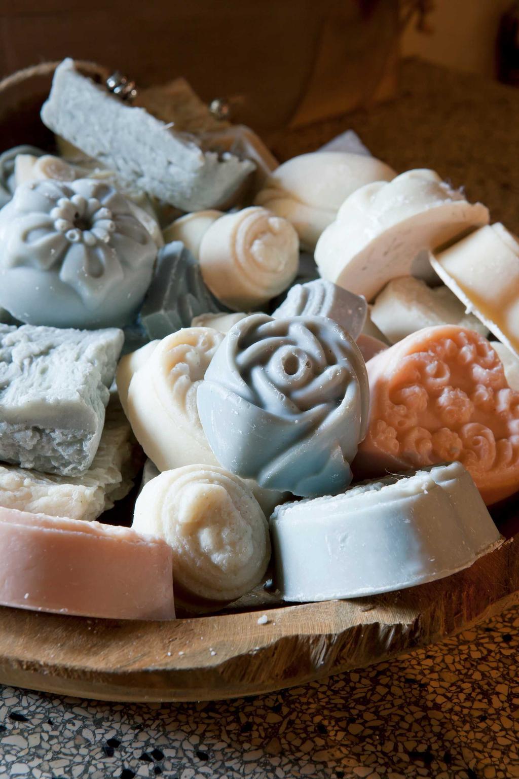 handgemaakte zeep kleur