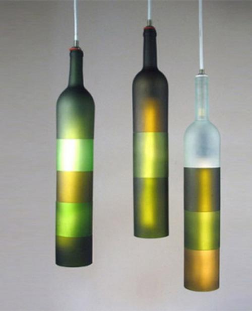 lamp van flessen