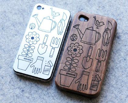 iPhonehoesje met tuinprint