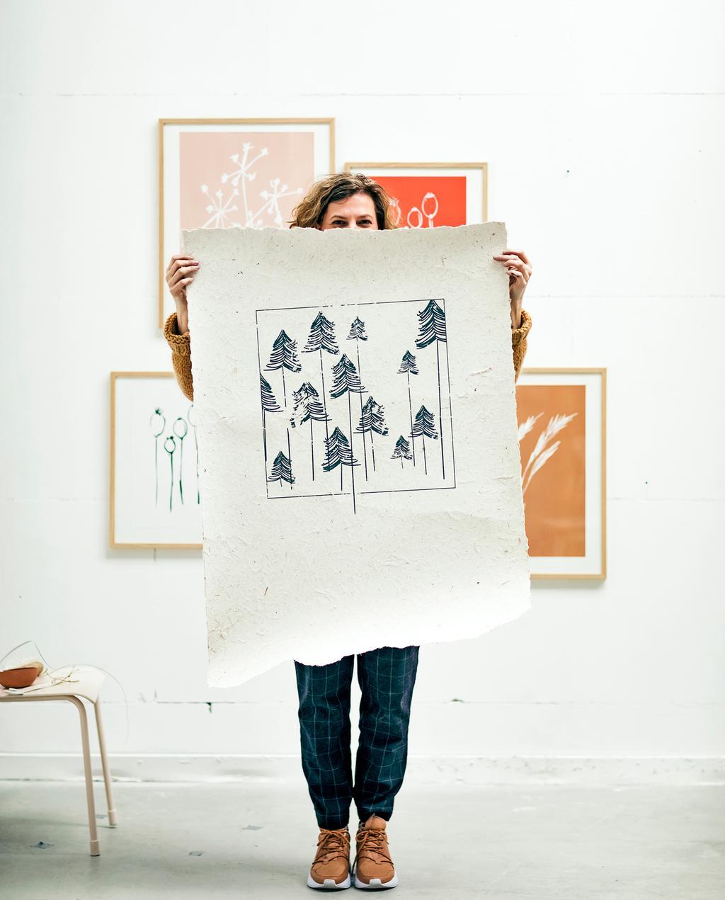 vtwonen 4-2019 | Ambacht papier sjablonen portret
