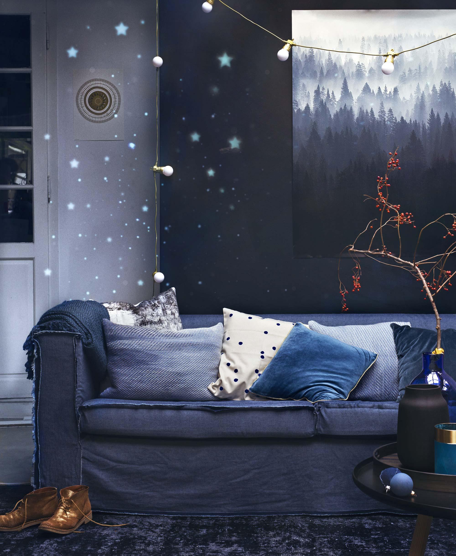 diepblauwe kerst