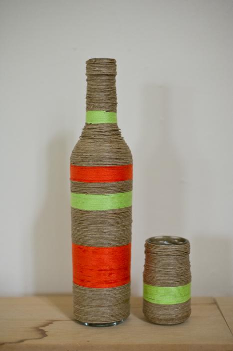 vaasje van oude fles