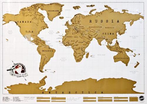 scratch map voor wereldreizigers