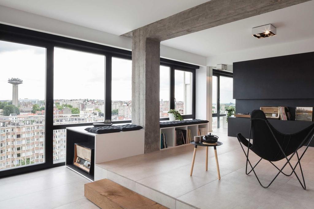 niveaux penthouse blanc noir