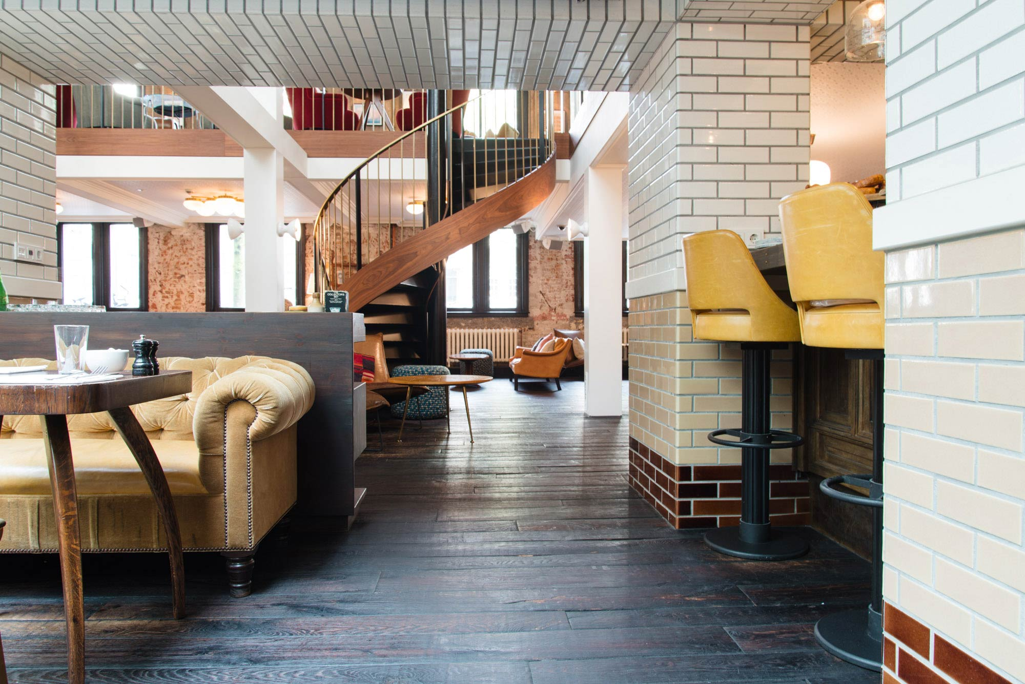 Lobby hotel The Hoxton in Amsterdam