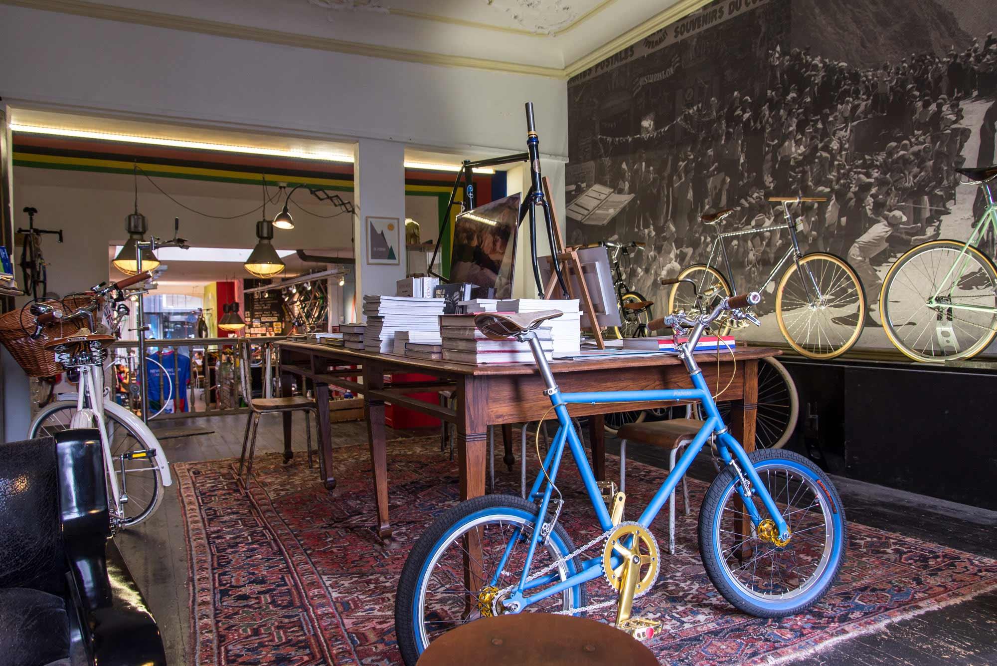 blauwe fiets