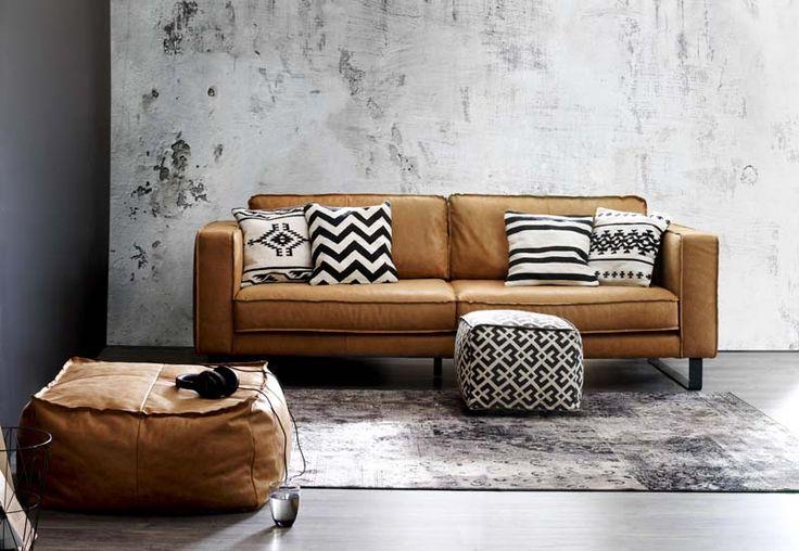 Cognackleurige meubels bank
