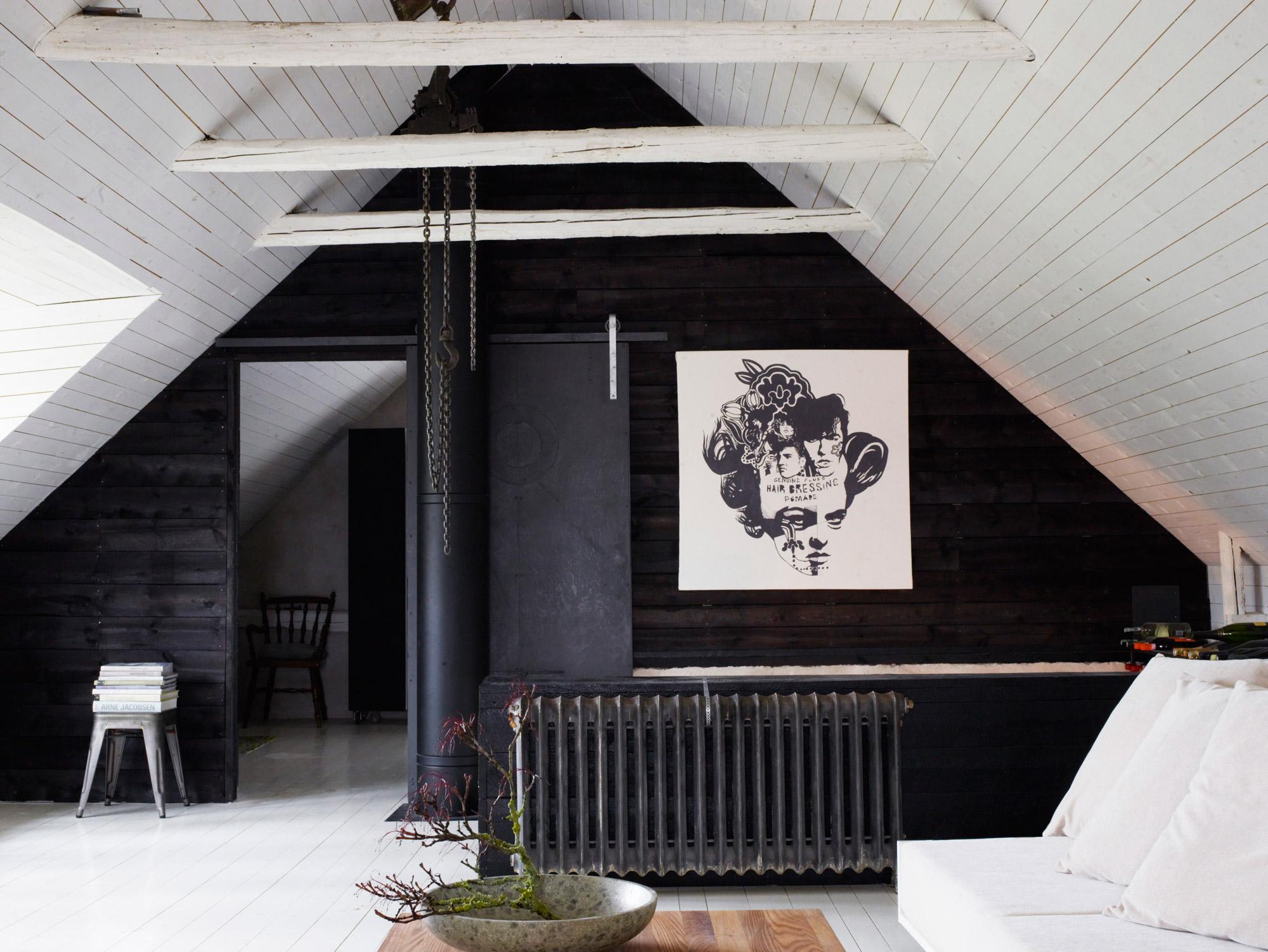 grenier noir et blanc