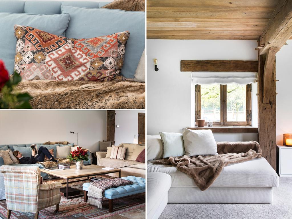 bk 5 elena woonkamer met kleurrijke kussens met blauw en beige