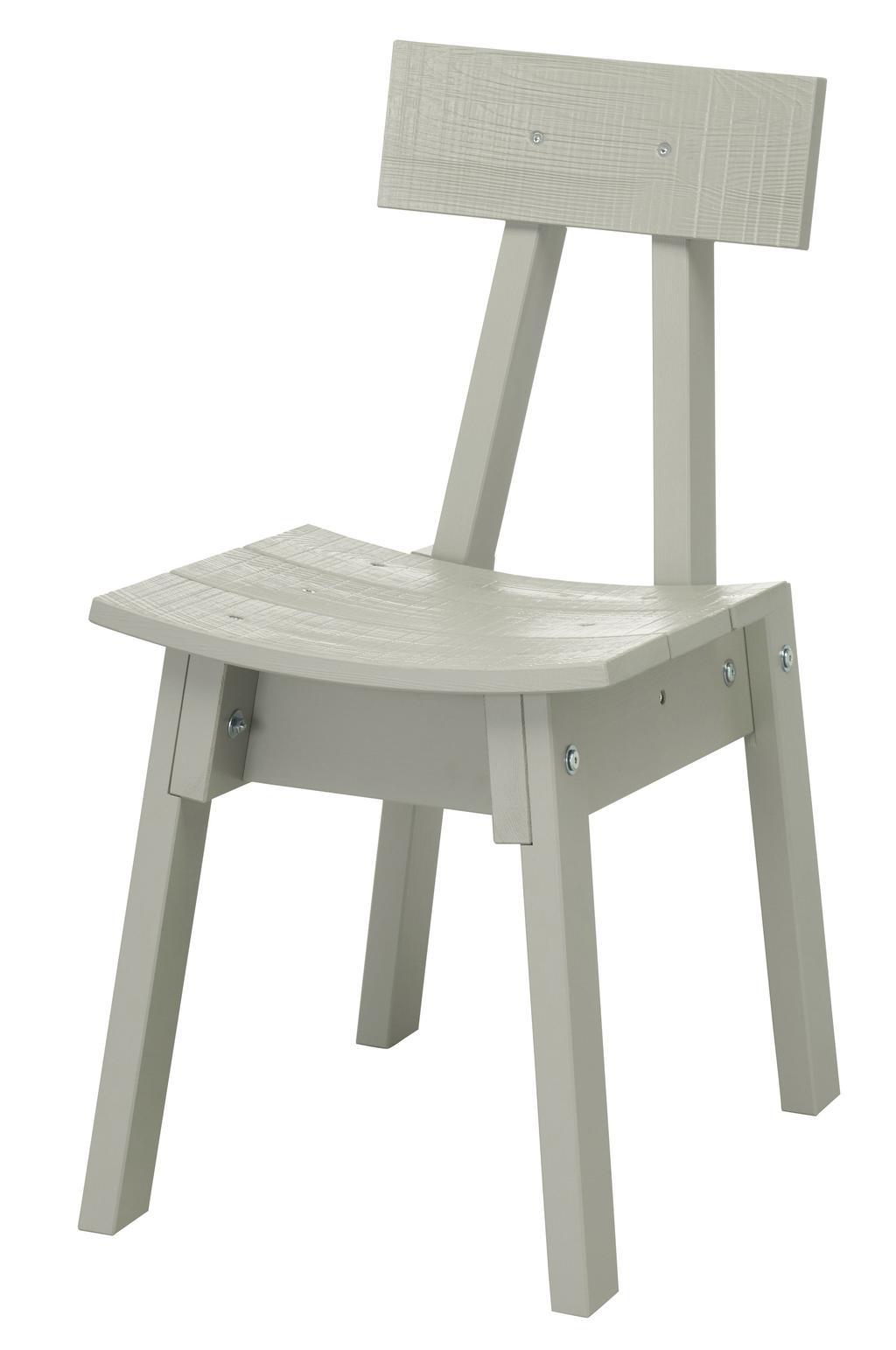 De grijze Industriell stoel van Piet Hein Eek