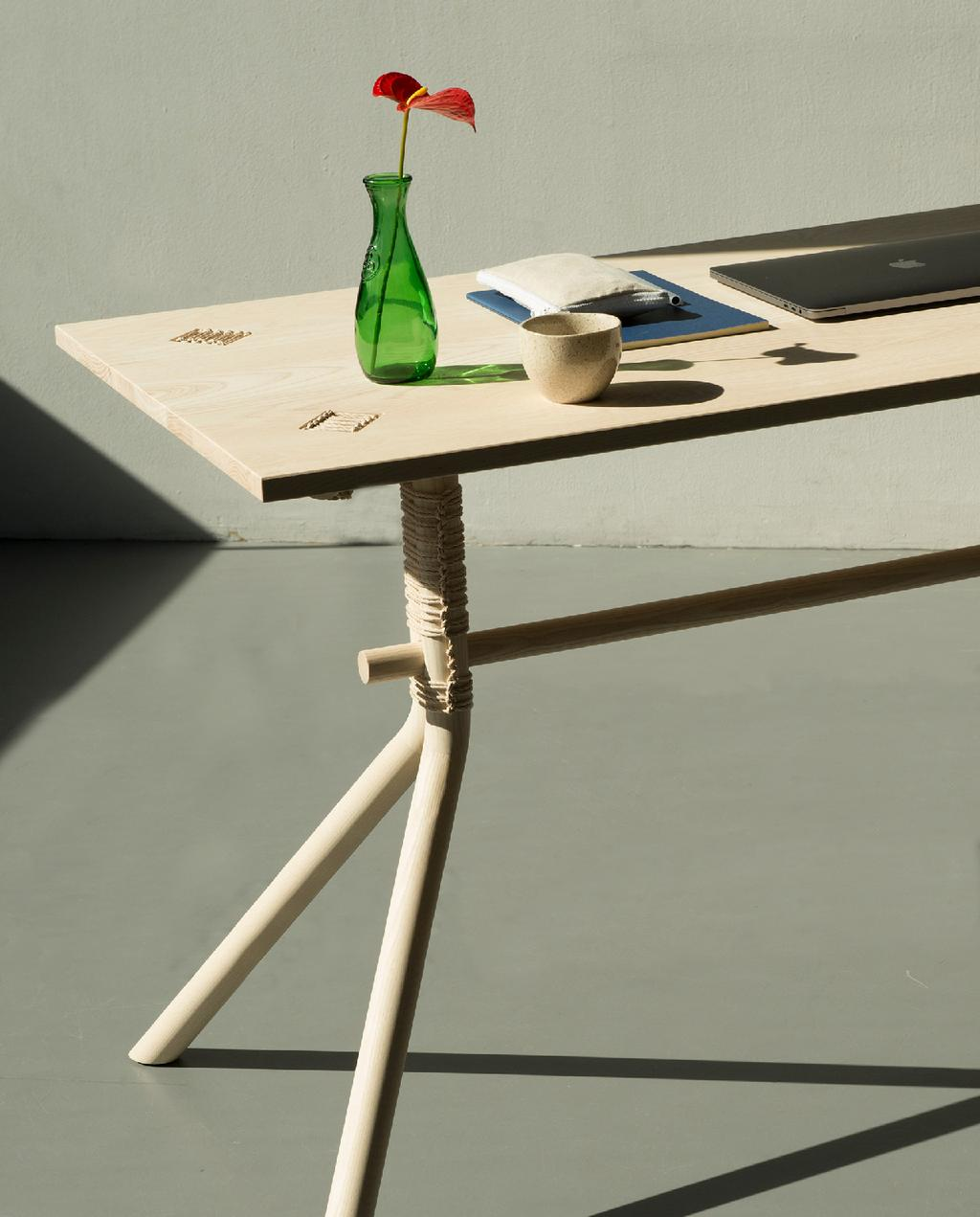 vtwonen blog StudentDesign - design eettafel blank hout